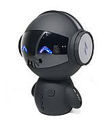 Портативная колонка Робот Bluetooth с караоке М10 Черная