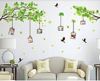 Інтер'єрна декоративна наліпка на стіну Гілки з фото / Интерьерная наклейка на стену Веточки с фото, AM914