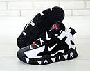 Кросівки Чоловічі Nike Air Barrage Mid QS Peak white/black, фото 4