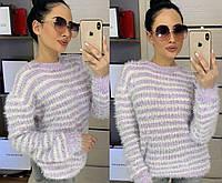 Женский свитер травка в полоску, 46-50
