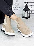 Ботинки Челси латте 7212-28, фото 5