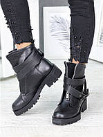 Ботинки кожаные LUX с пряжкой 7216-28, фото 1
