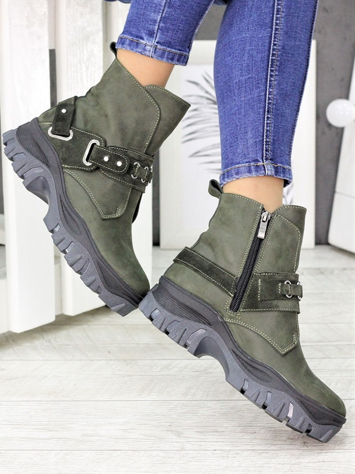 Ботинки изумруд Forever 7235-28