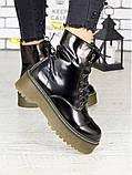 Женские ботинки лаковая кожа деми Mart!ins 7236-28, фото 2