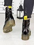 Женские ботинки лаковая кожа деми Mart!ins 7236-28, фото 3