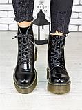 Женские ботинки лаковая кожа деми Mart!ins 7236-28, фото 4