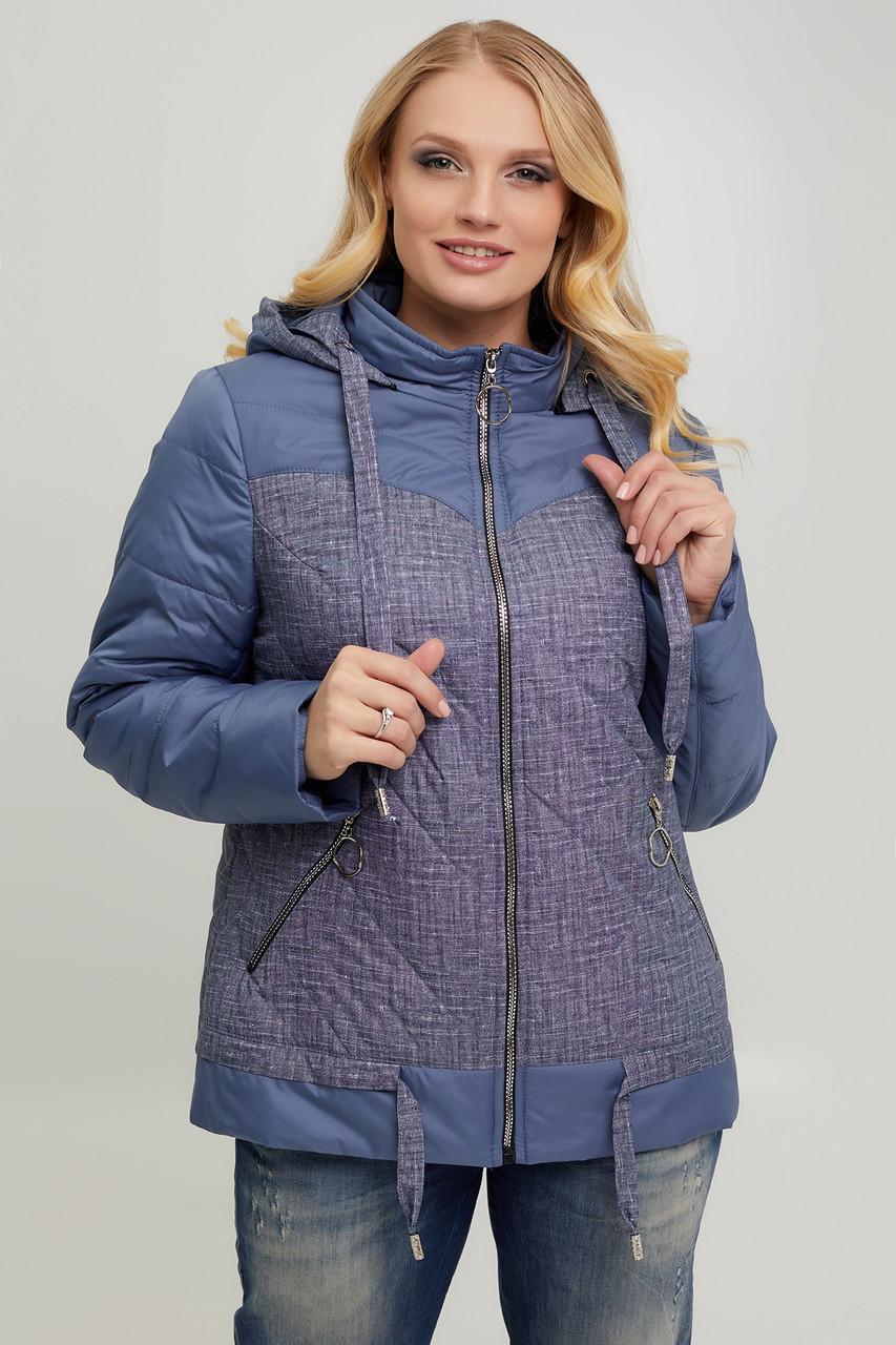 Жіноча демісезонна курточка з стьоганої плащовки +синтепон 100