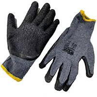 Рукавички робочі трикотажні з латексним покриттям. сірі Werk WE2134 (77360)