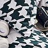 Комплект постельного белья Черно-Белый Орнамент, евро размер 4 наволочки - Фото