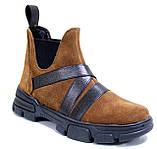 Челсі жіночі замшеві туфлі на платформі від виробника модель СА3030-2, фото 2