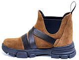 Челсі жіночі замшеві туфлі на платформі від виробника модель СА3030-2, фото 3