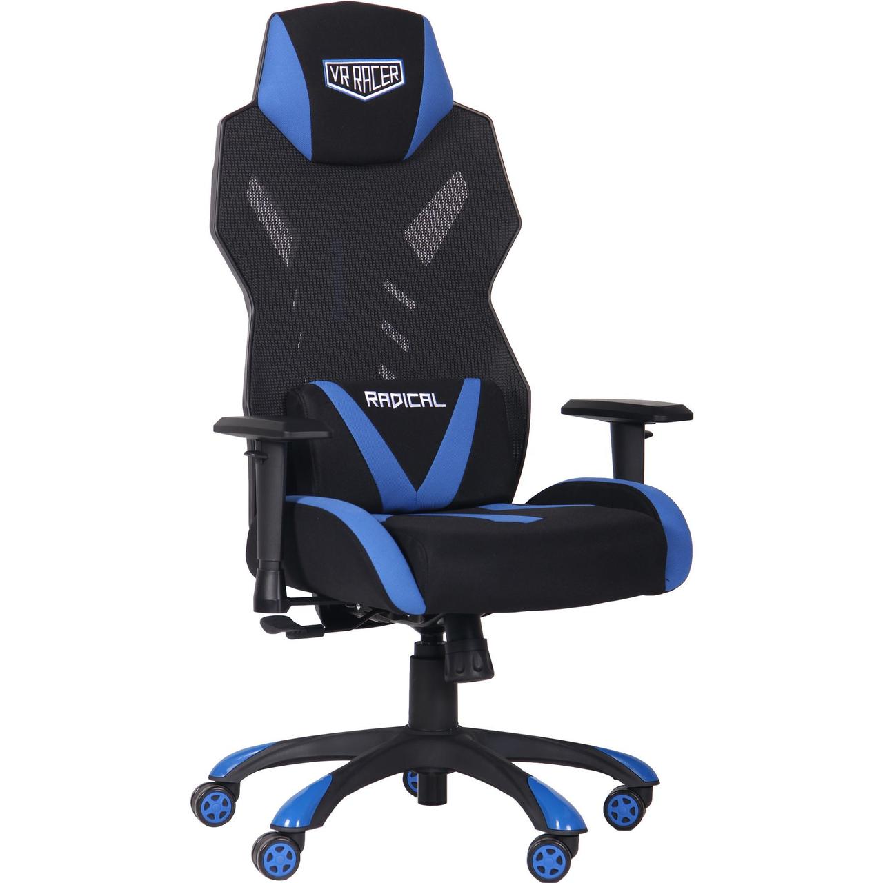 Кресло VR Racer Radical Krios черный/синий TM AMF