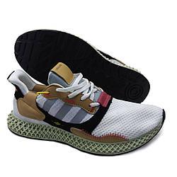 Мужские кроссовки похожие на Adidas ZX 4000 4D Бело-коричневые