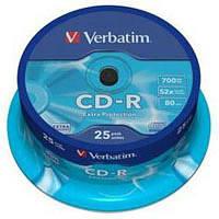 Диск CD Verbatim 700Mb 52x Cake box 25шт Extra (43432)
