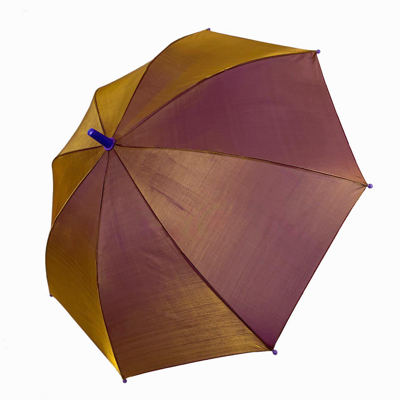 """Детский зонт трость """"хамелеон"""" однотонный, Flagman, оливковый, 502-2"""