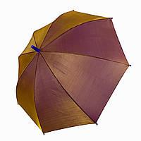 """Детский зонт трость """"хамелеон"""" однотонный, Flagman, оливковый, 502-2, фото 1"""