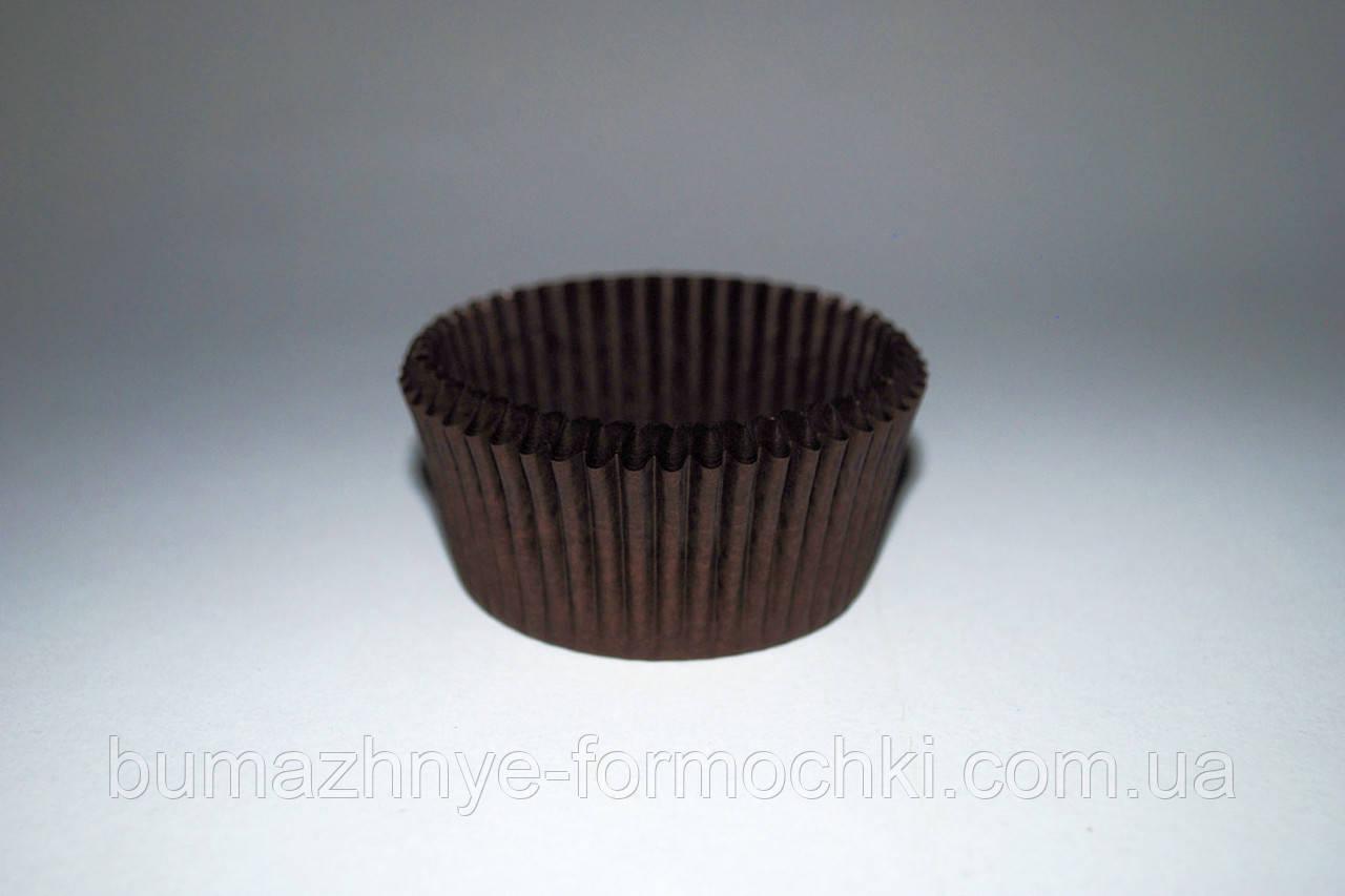 Коричневые бумажные формочки для выпечки кексов и маффинов, 50х30 мм