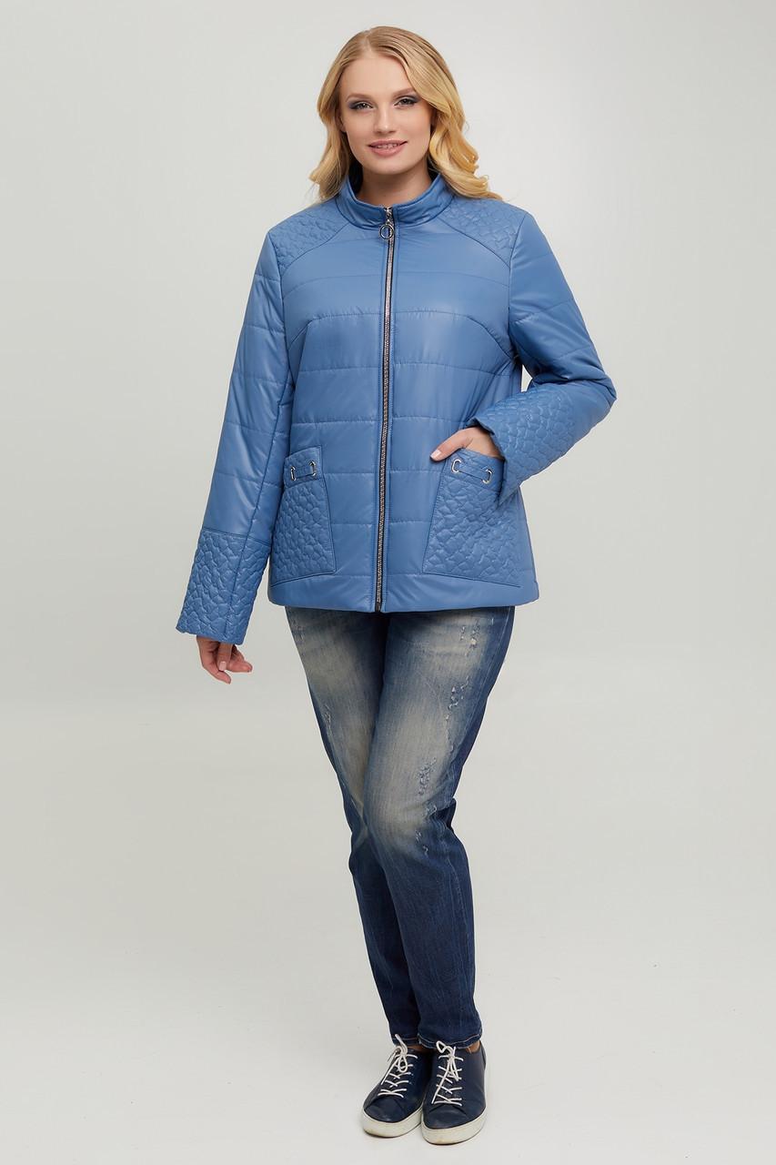 Демісезонна курточка з стьоганої плащовки на синтепоні 100
