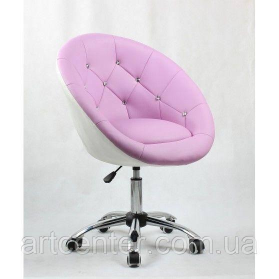 Косметическое кресло HC-8516K лавандово-белое