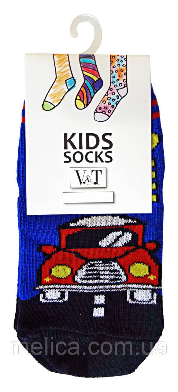 Носки детские Kids Socks V&T comfort ШДУг 120-024-0377 Красная машинка р.12-14 Синий