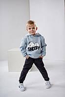 Детские спортивные штаны  Ливен 4500 на мальчика 4-7 лет 128 антрацит размеры 110, 116