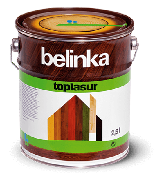BELINKA Toplasur, лазурь для дерева, дуб (15), 2,5л, фото 2
