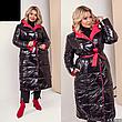 Женское зимнее двухстороннее пальто размеры: 42-58, фото 6