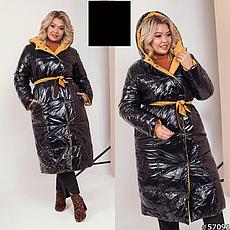Женское зимнее двухстороннее пальто размеры: 42-58, фото 3