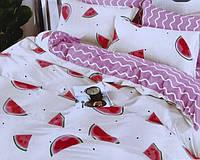 Комплект постельного белья Арбузики, евро размер 4 наволочки