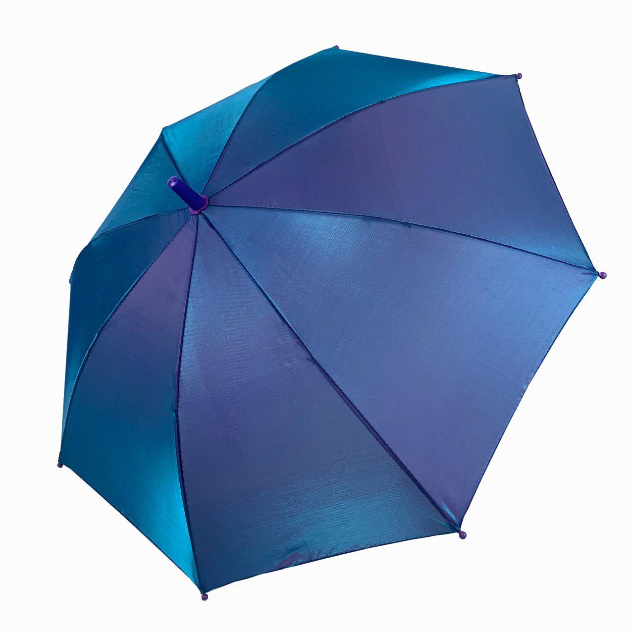 """Детский зонт трость """"хамелеон"""" однотонный, Flagman, синий индиго, 502-4"""