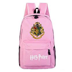 Рюкзак Гарри Поттер(HarryPotter) Хогвартс с гербом факультетов розовый LGCPY(AV218)