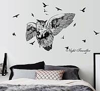 Інтер'єрна наліпка на стіну Сова / Интерьерная наклейка на стену Сова SK7108