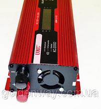 Автомобільний перетворювач напруги інвертор ORIGINAL UKC з 12В на 220В 2000W KC-2000D з дисплеєм 2000Вт