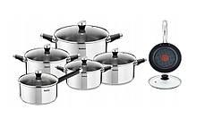 Набор посуды TEFAL EMOTION + Сковорода с крышкой 30см  12 ел