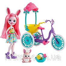 Набор Enchantimals Прогулка на велосипеде и кукла Кролик Бри FVD82
