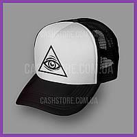 Кепка Тракер Asos 'Eye of Providence' | Черная с белым лбом