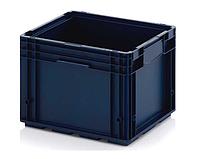 Пластиковый усиленный ящик R - 4329 (внешние/внутренние размеры 297/265х396/346хН280/242мм) объем 22Л