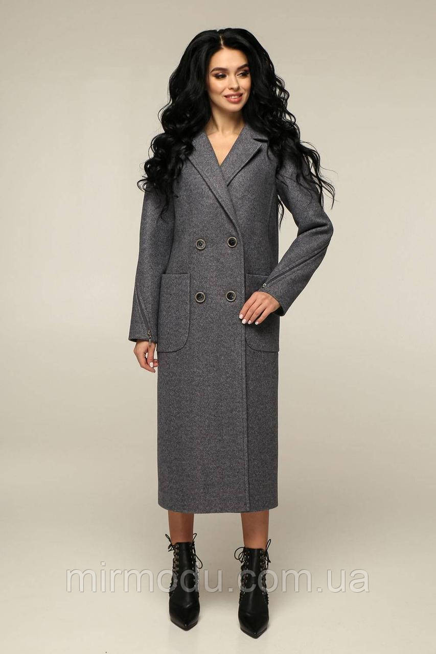 Женское пальто весеннее В-1240 тон -8 с 44 по 54 размер(фт)