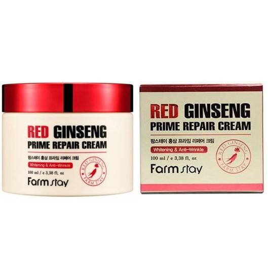 Антивіковий крем з екстрактом женьшеню FarmStay Red Ginseng Prime Repair cream