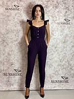 Женский комбинезон с тонкой костюмной, шелковистой ткани Poliit 5209, фото 1