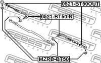 Наконечник рулевой внешний Febest FE 0521-BT50OUT