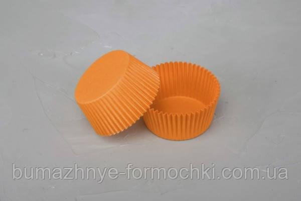Оранжевые формочки для выпечки кексов и маффинов, 50х30 мм