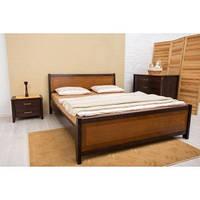 Кровать Олимп Сити с изножьем интарсия массив бука