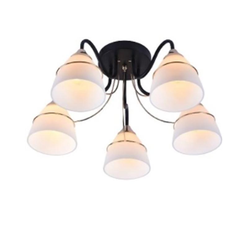 Люстра потолочная на пять  ламп  NM-814540/5 BK FGD  черная