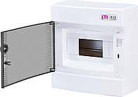 Наружный щит IP40 ETI ECT-8PT 8 модулей 1101000 (распределительный, навесной, модульный, с прозрачной дверцей)