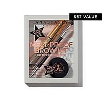 Набор для макияжа бровей Anastasia Beverly Hills Melt-Proof Brow Kit (brow/pow + brow/gel + brush) Taupe, фото 1
