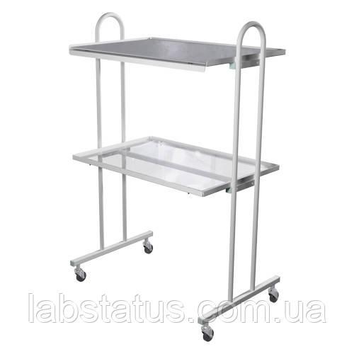 Столик инструментальный СІ-4 (стекло/металл)
