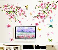 Интерьерная наклейка на стену Колибри в цветах AY9158
