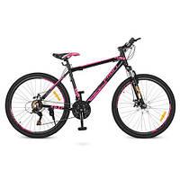 """Велосипед для спорта Profi 26"""" G26YOUNG A26.4 черно-розовый количество скоростей 21"""