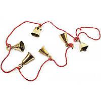 Колокольчики бронзовые на веревке (6 шт)(118 см)